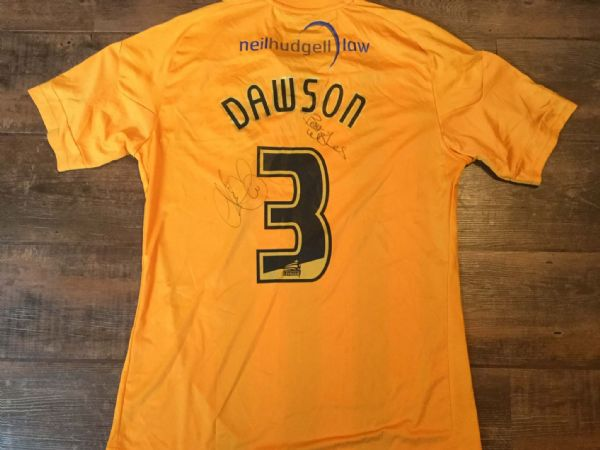 2010 2011 Hull City Dawson Match Worn Home Poppy Football Shirt